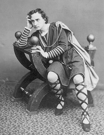 Hamlet ponders the human predicament, as played by Edwin Booth in 1870.