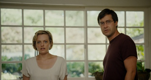 It's a shocking moment for Sophie (Elisabeth Moss) and Ethan (Mark Duplass).