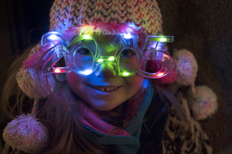 Riya Nadik, age 5, of Robinson Township braved frigid temperatures with her family to celebrate Highmark First Night Pittsburgh 2015.