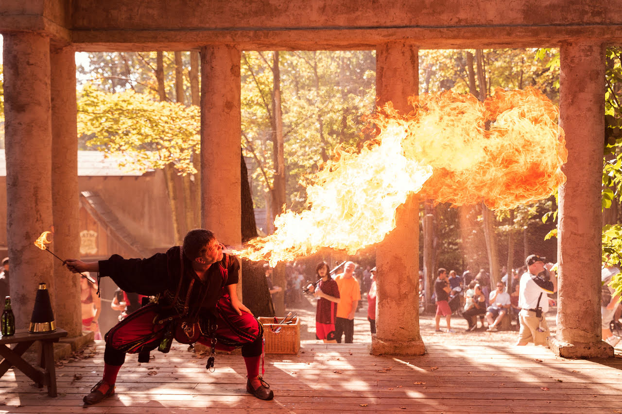 You think you're hot? Special effects are real, not CGI, at the Pittsburgh Renaissance Festival, one of our baker's dozen late-summer highlights.