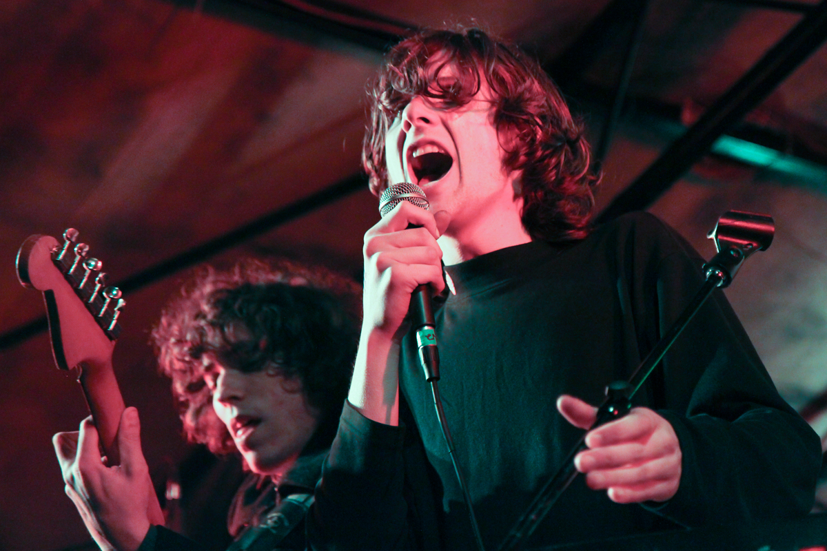 Foxygen's core members Jonathan Rado (left) and Sam France (right) performing at Mohawk in Austin, TX. photo: Bryan C. Parker