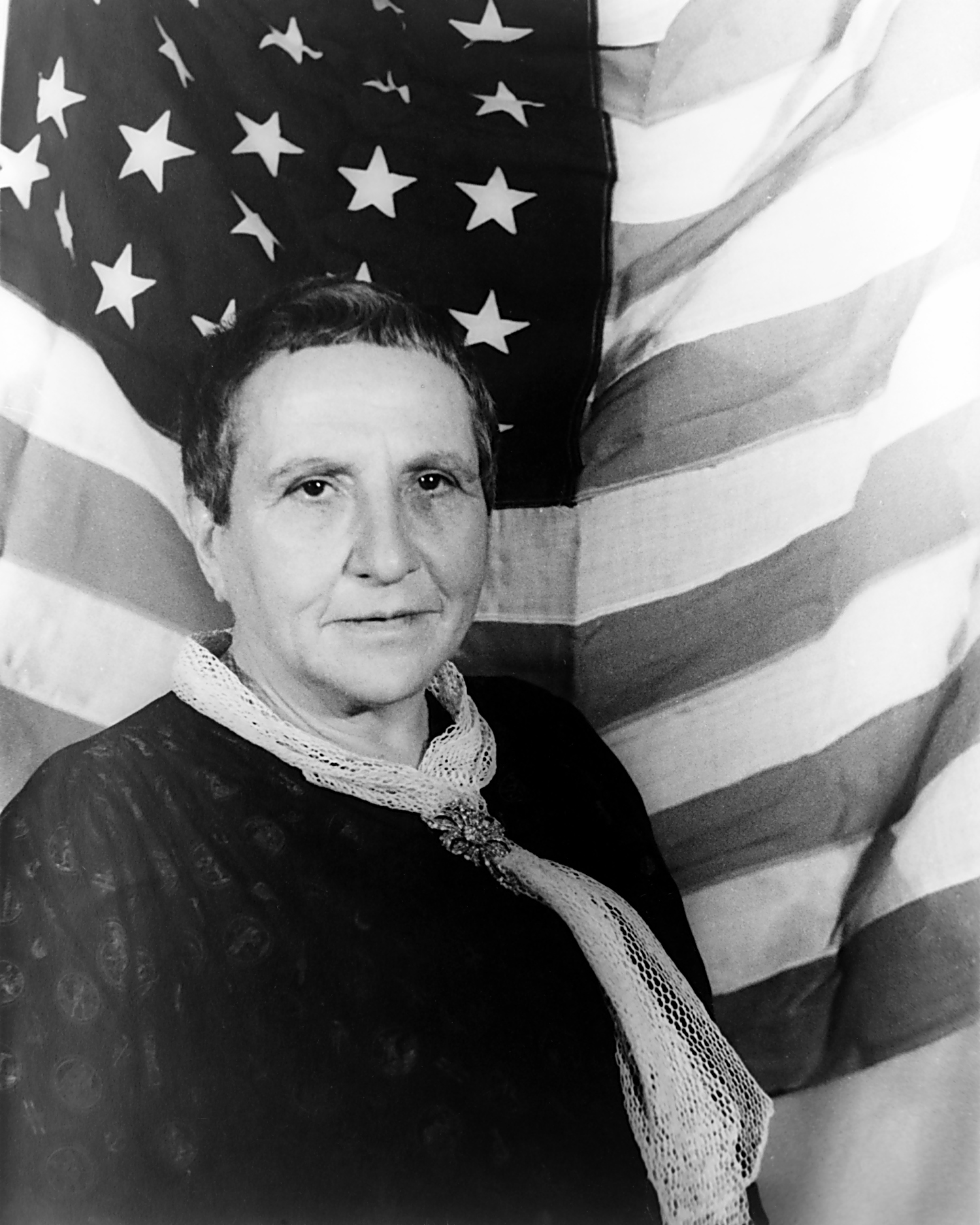 Gertrude Stein's works included 'The Making of Americans.' She also wrote 'Doctor Faustus Lights the Lights,' an electric tale of fate and folly, on stage this month at Pitt. (photo: Carl Van Vechten, 1935)