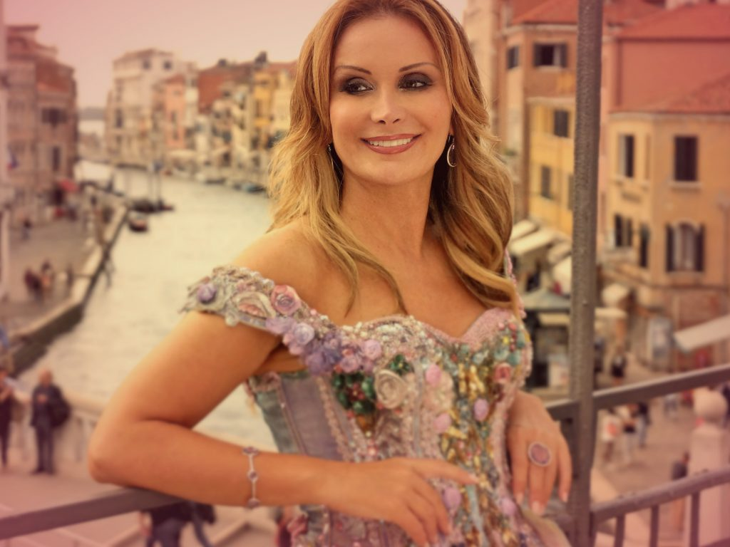 Singer Giada Valenti in her hometown of Venice. Italy.