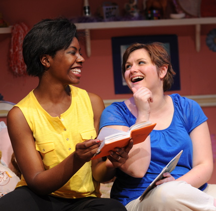 "Sara Williams (L) and Julianne Avolio know the score in ""Girls Only."""