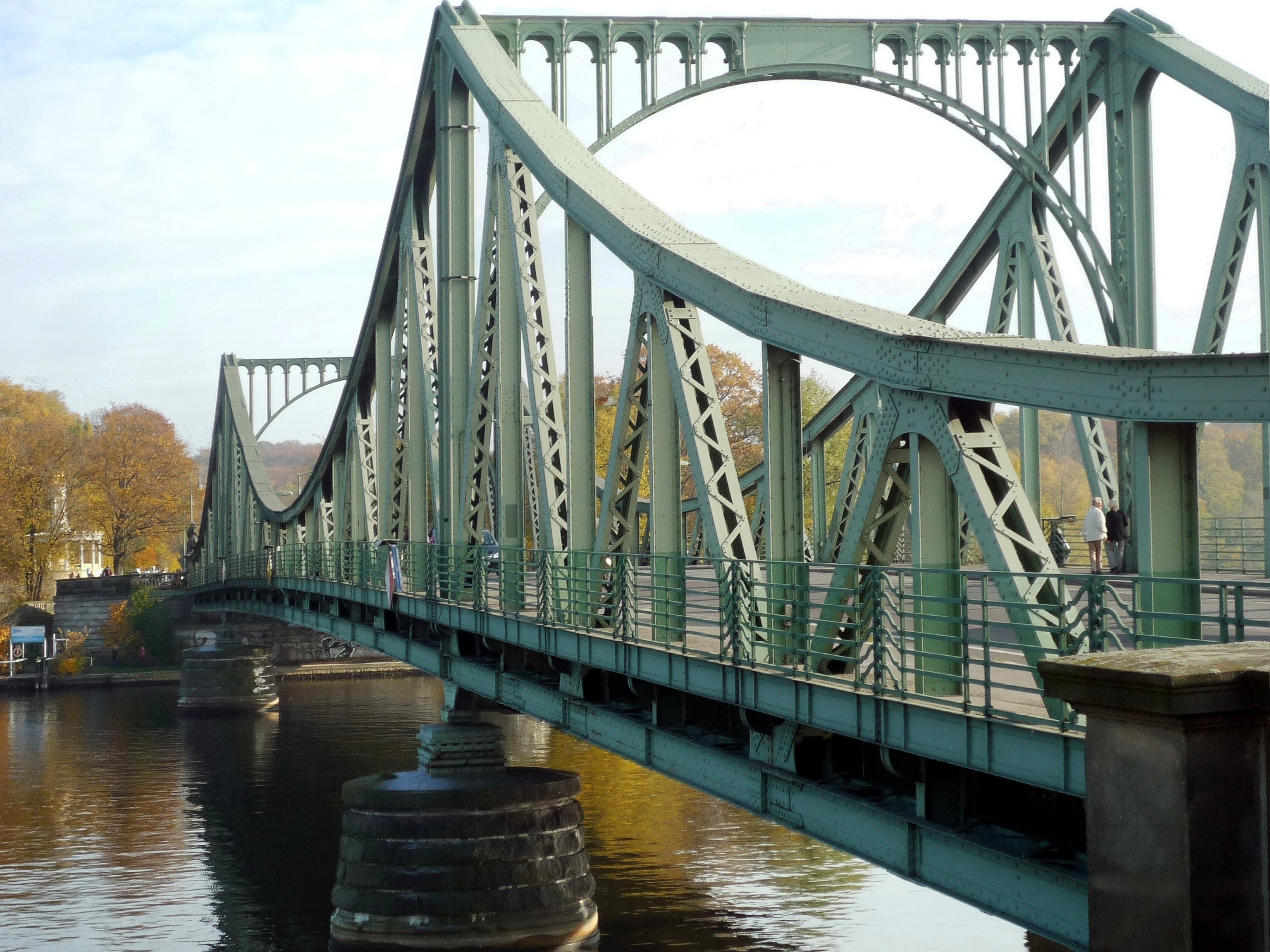 "The real ""Bridge of Spies"": During the Cold War, in divided Germany, the Glienicke Bridge was a no-walk zone—Western forces controlled one end and Communist forces the other. But it was used for exchanging captured spies and it's where the U.S. swapped Rudolf Abel for Powers."