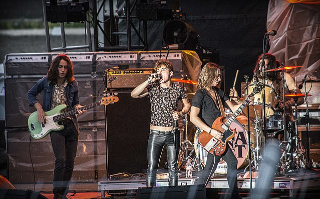 Greta Van Fleet in concert at the Red River Valley Fair, West Fargo, North Dakota, July 2017. Photo: Troy Larson and Wikipedia.