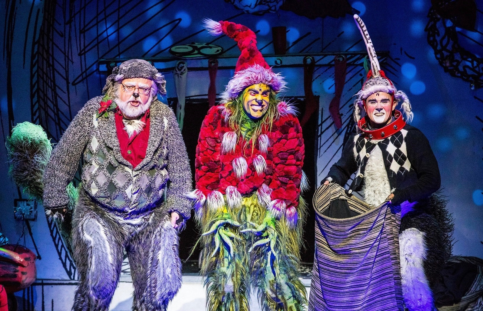 Fret not, for the live-theater options are numerous this month, and the touring production of 'Dr. Seuss' How The Grinch Stole Christmas! The Musical' is just one.