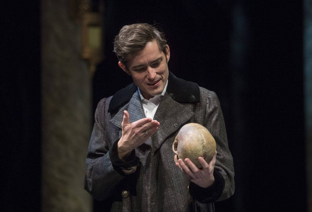 "Hamlet looks at the skull of his late friend, the court jester, and says ""Alas, poor Yorick! I knew him, Horatio, a fellow of infinite jest, of most excellent fancy."""