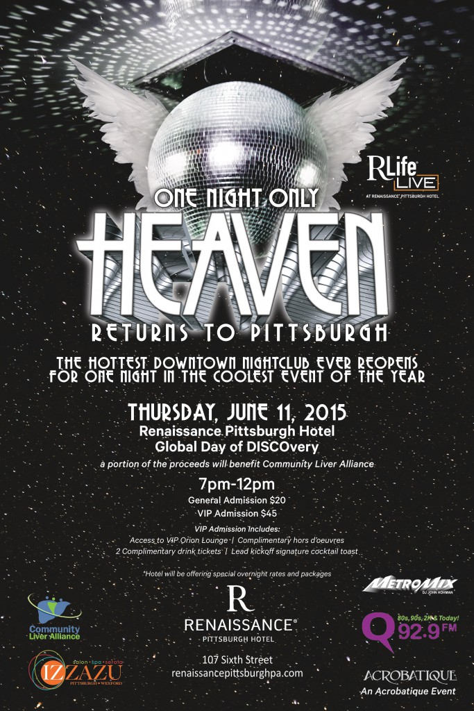 Heaven returns for one night only on June 11.