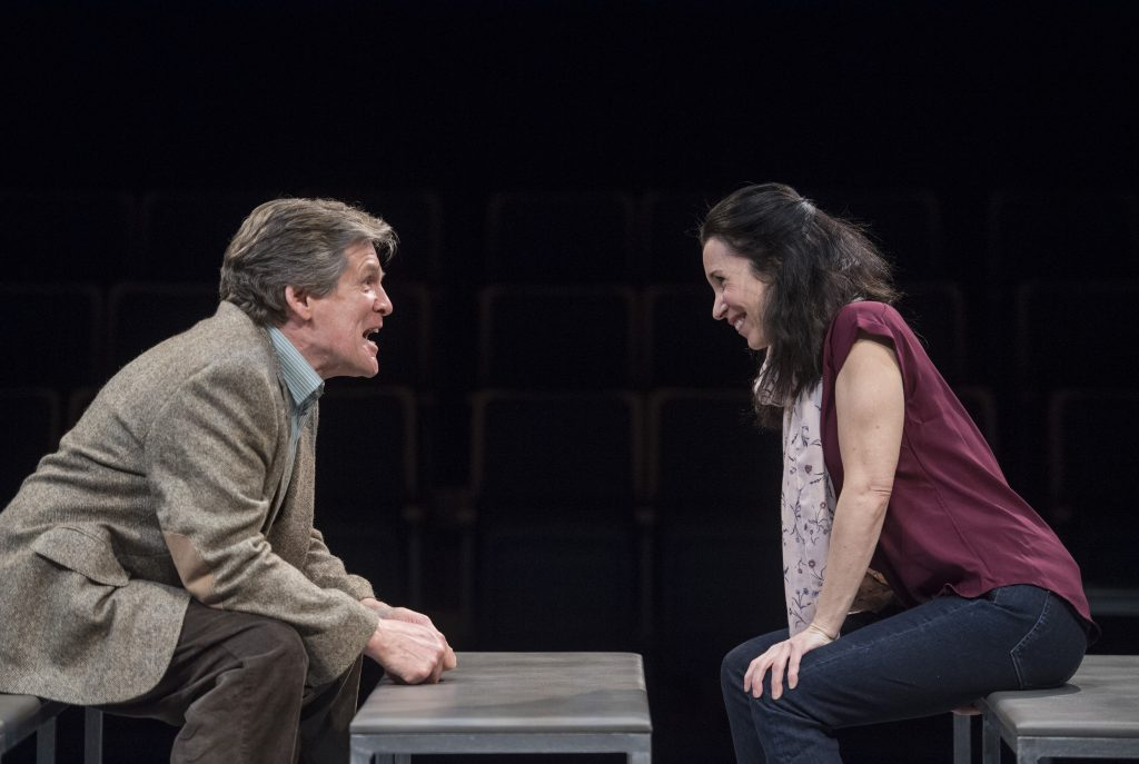 Anthony Heald and Robin Abramson star in the Public's 'Heisenberg.' Photo: Michael Henninger.