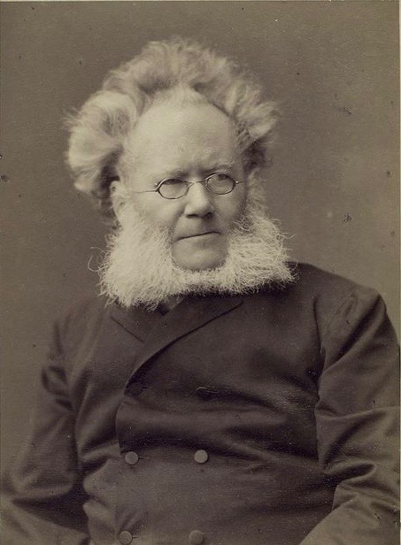 Ibsen had the look that amazes and he wrote plays to match.