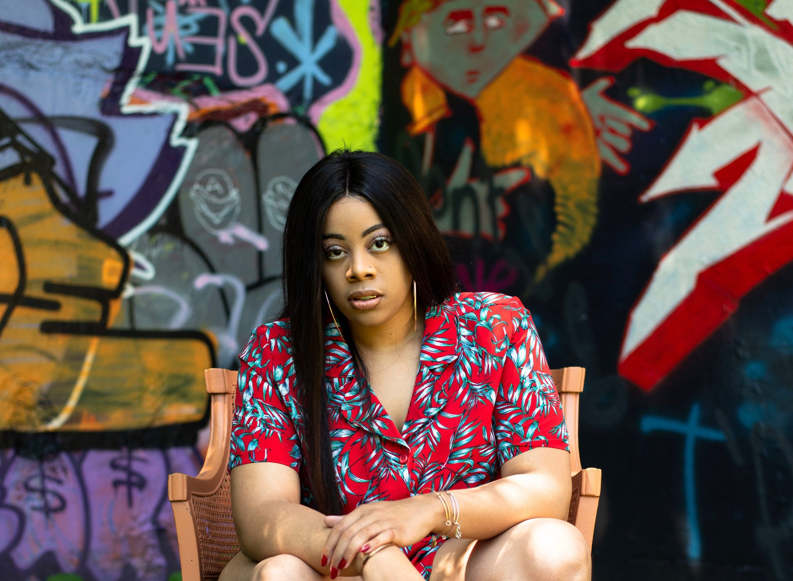 Fast-rising music artist INEZ styles her name in all caps. She's one of a multitude of creators bringing live performance back to Pittsburgh at the Drive-In Arts Fest. (photo: Nicolette Kalafatis)