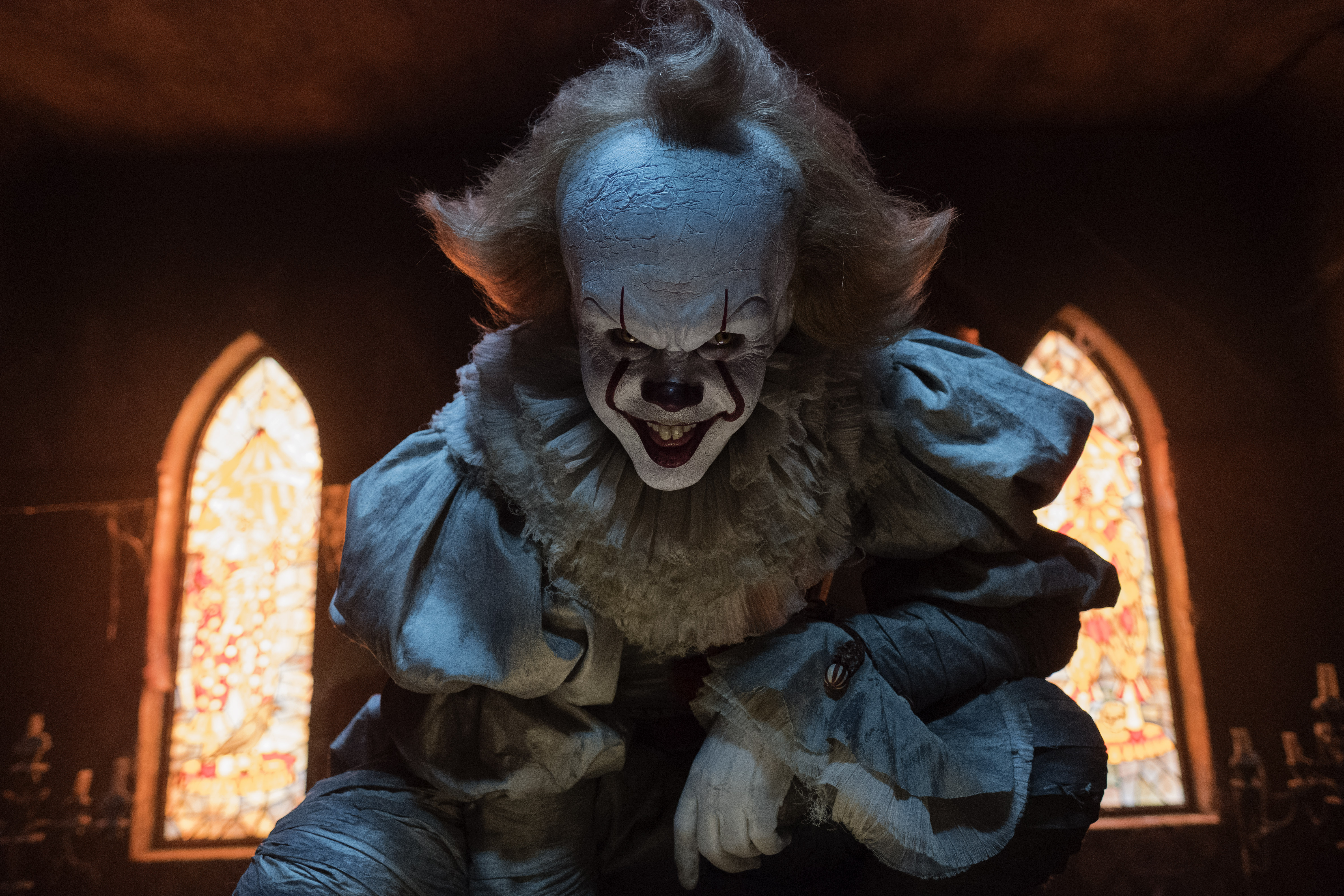Pennywise the evil clown in his lair.