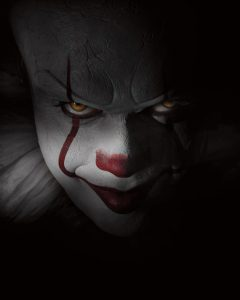 Pennywise has a very intense gaze.