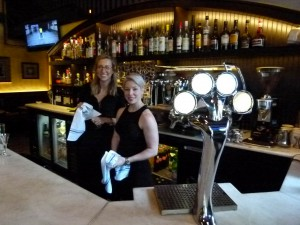 Michelle Montana (left, downtown) and Alena Gusic (right, South Side) pair all beer, wine, and espresso-based drinks with a smile.