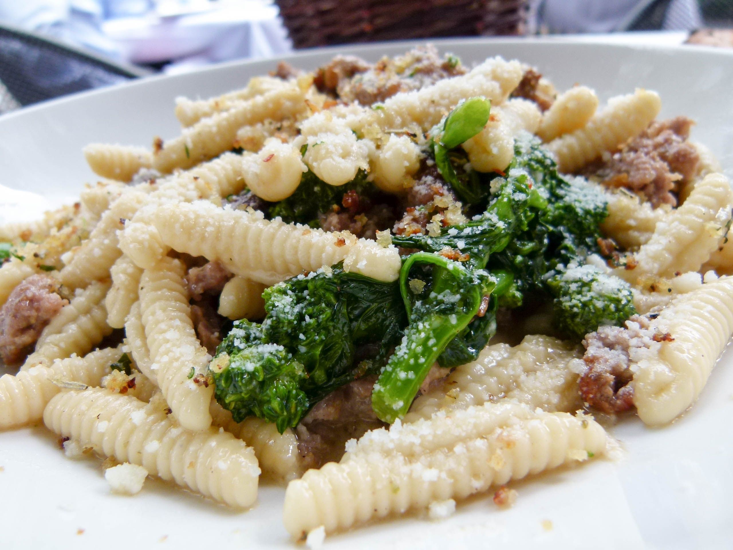 A dash of rapini adds an excellent complement to both the house-made sausage and cavatelli.