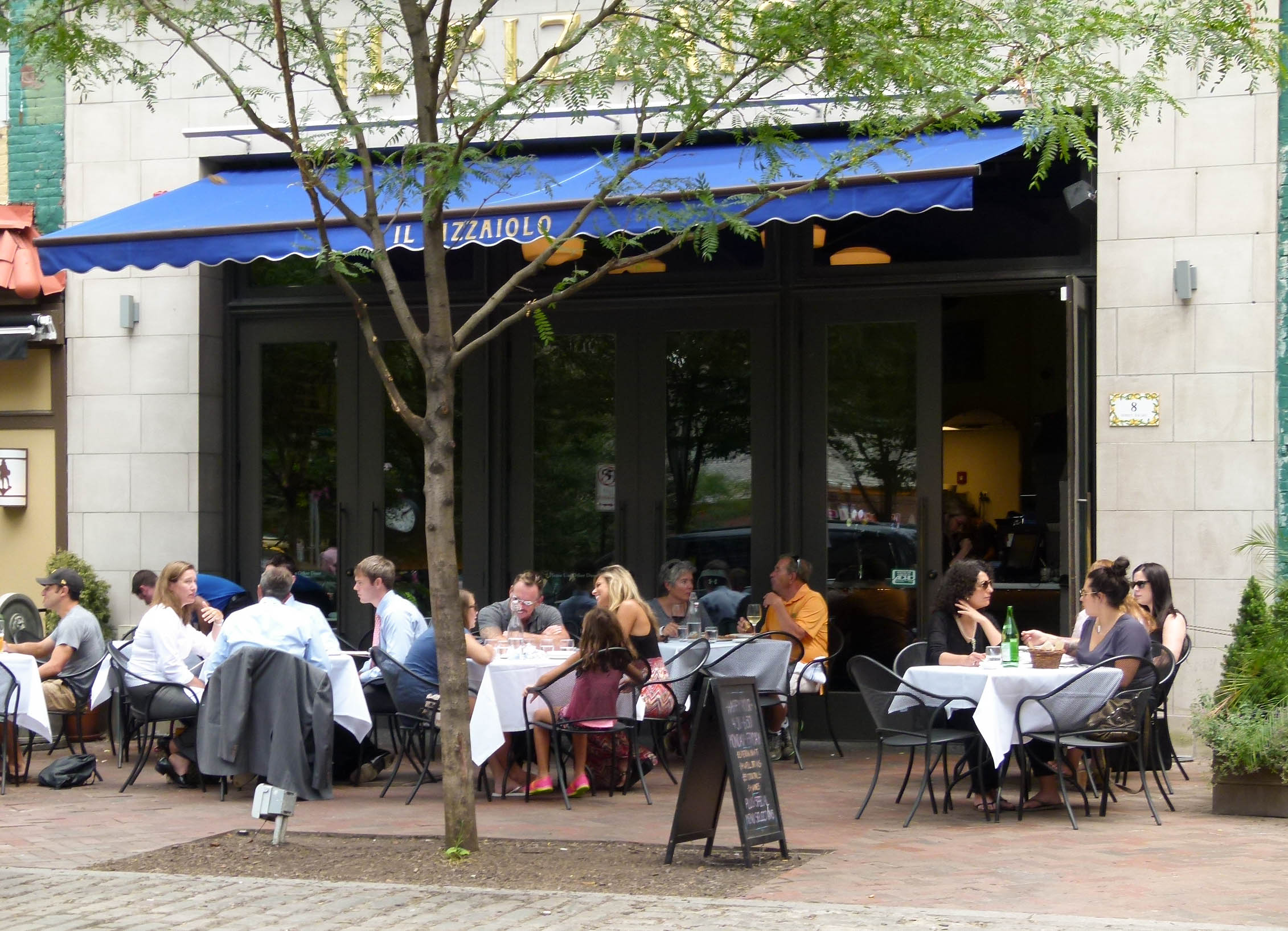 Outdoor seating makes Il Pizzaiolo a superb spot for a casual business meeting or just some people-watching in Market Square.