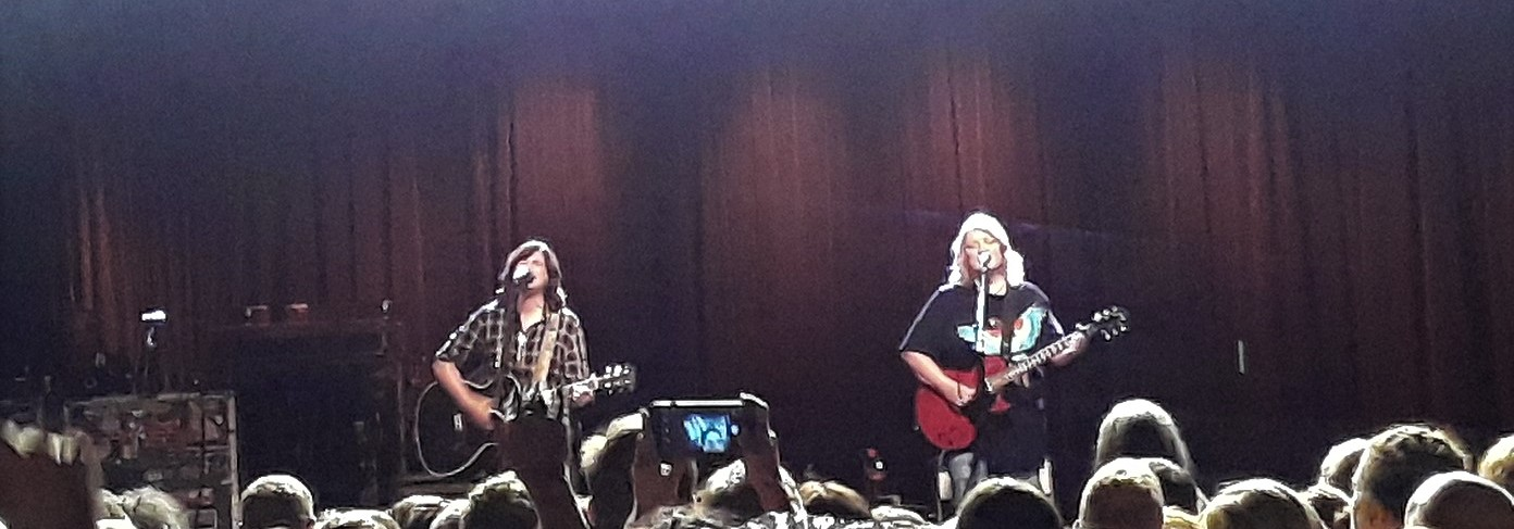 Indigo Girls performing in concert in Charlotte, North Carolina in 2018. (photo: Hanging curve and Wikipedia).