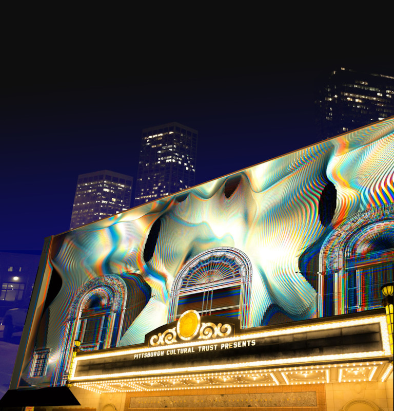 'Manifold'will wrap the facade of the Benedum Center in an exciting and constantly changing video art display accompanied by a musical score. (Photo: Renee Rosensteel)