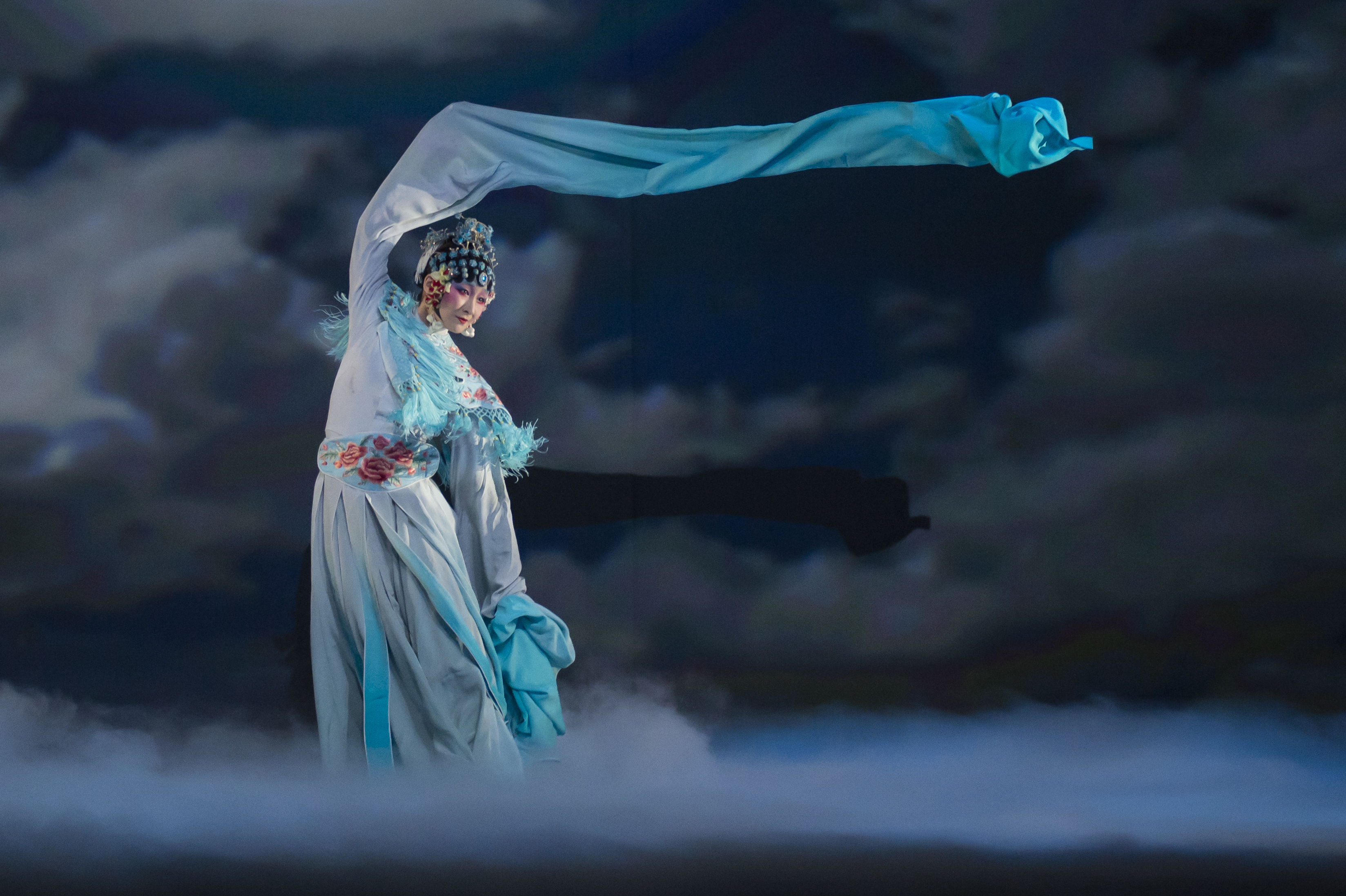 Before the winds of change bring a new season, they whistle through Yabin Wang's 'The Moon Opera.' It's part of the Pittsburgh International Festival of Firsts and one of a host of new theater and dance productions on stages here in November. (photo courtesy of Yabin Wang Studio)