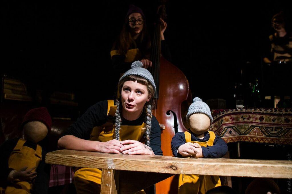 'What's That?' Well, that's the title of most unusual people-and-puppet play, direct from Ukraine. Presented by Teatr-Pralnia and CCA Dakh, it's one of many foreign and/or foreign-seeming shows in Pittsburgh this month. (photo courtesy of the companies)