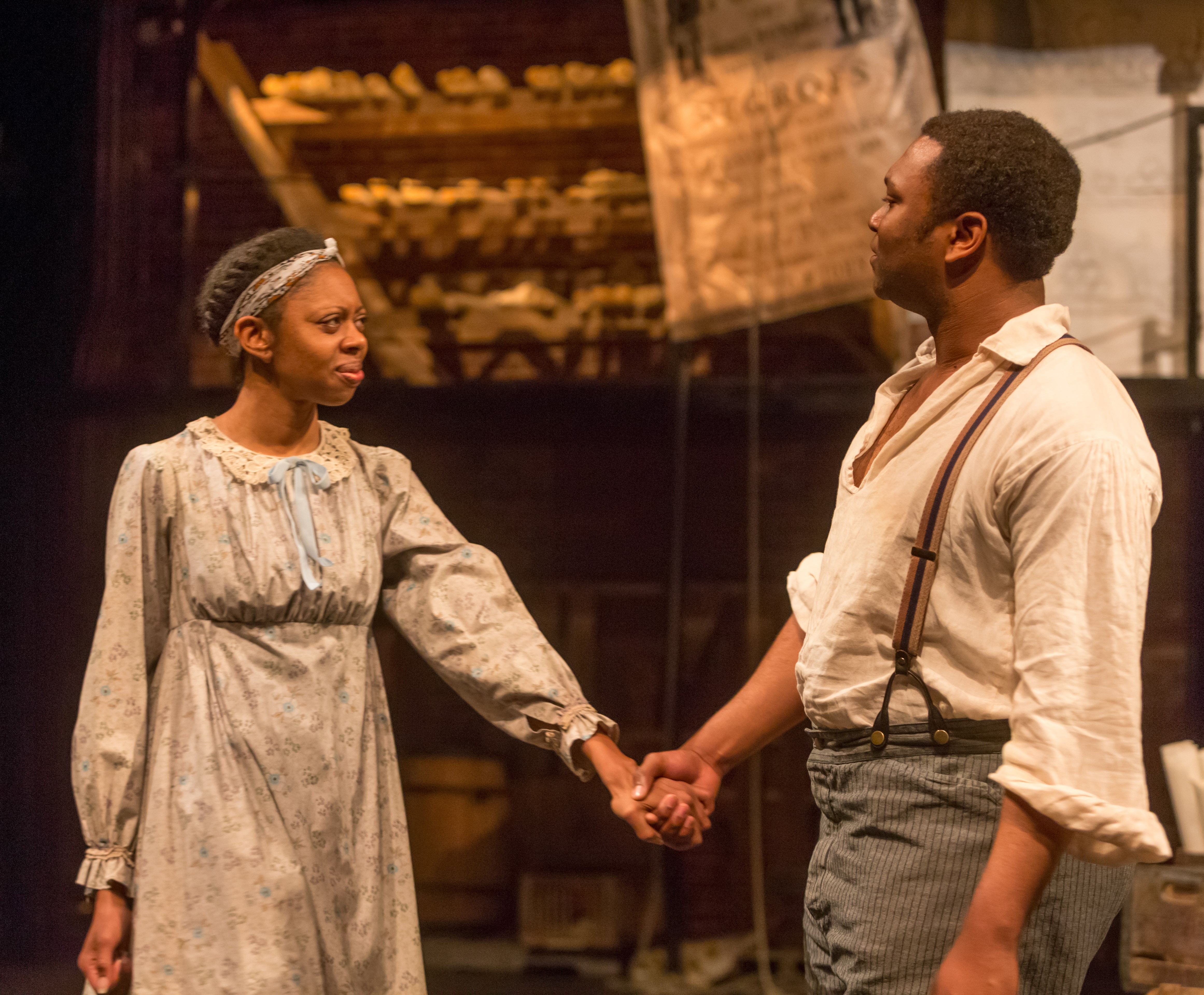 """A scene from 'JH: Mechanics of a Legend.' photo: Renee Rosensteel and the The New Hazlett Theater's 2015 CSA Performance Series."""""""