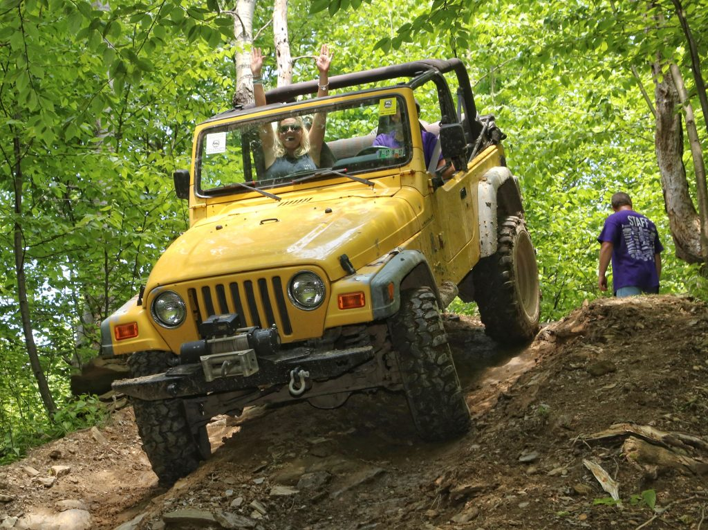 Riding the off road trails in a Jeep at the Bantam Jeep Heritage Festival can be its own kind of roller coaster fun.
