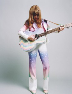 "Jenny Lewis performing in her ""Voyager"" attire."