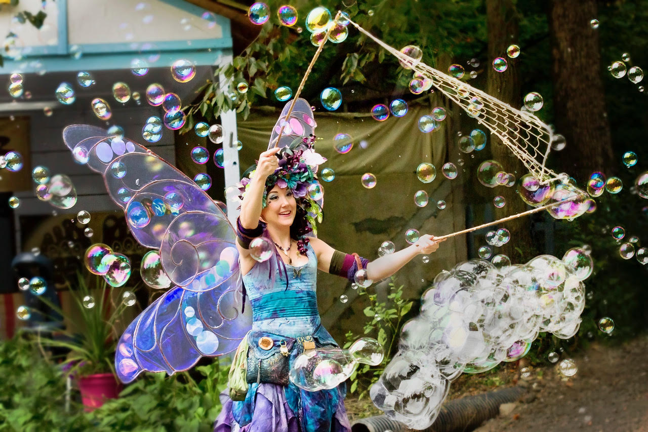 At the dawn of the Renaissance era, soap-making was being industrialized, but that never stopped people from playing with the bubbles like they do at Pittsburgh RenFest.