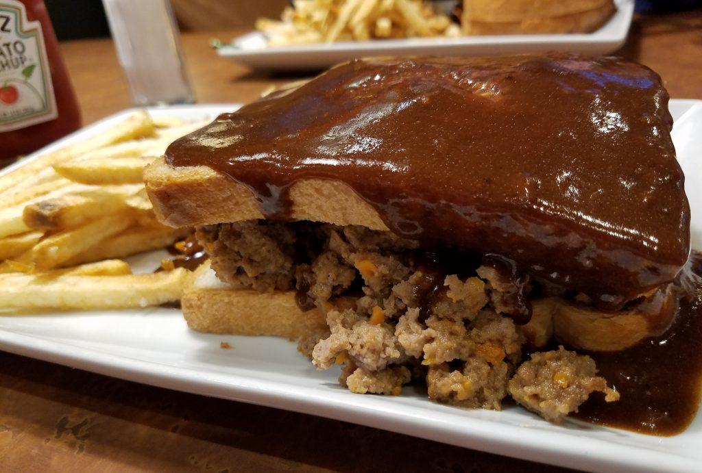 Caulfield's Hot Meatloaf Sandwich.