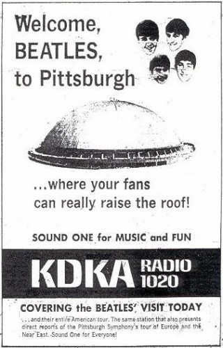 KDKA Radio Beatles Ad