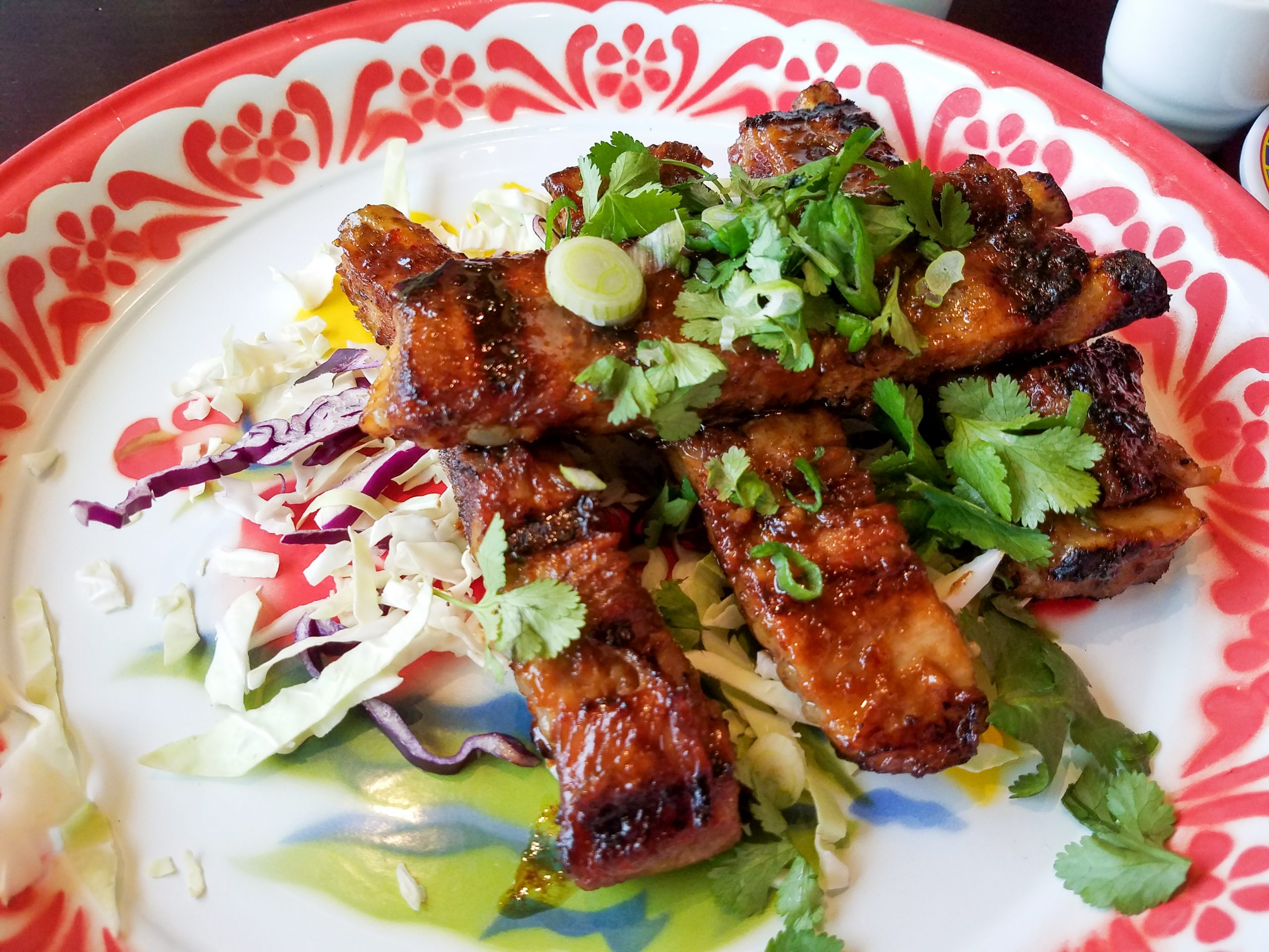 Kiin's Tamarind spare ribs are coated with a splendid tasting bbq sauce.