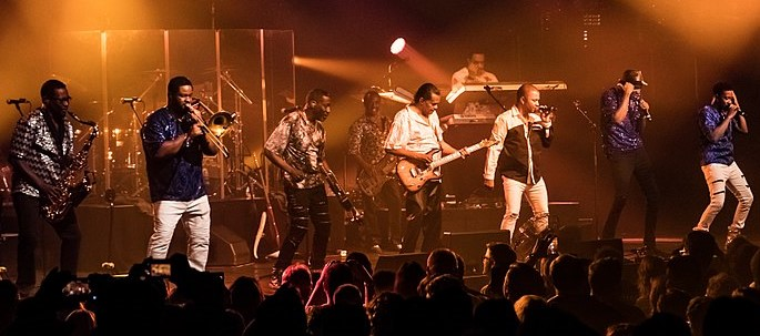 Kool & the Gang performing at Leverkusener Jazztage in Germany in 2017. (photo: Andreas Lawen, Fotandi and Wikipedia)