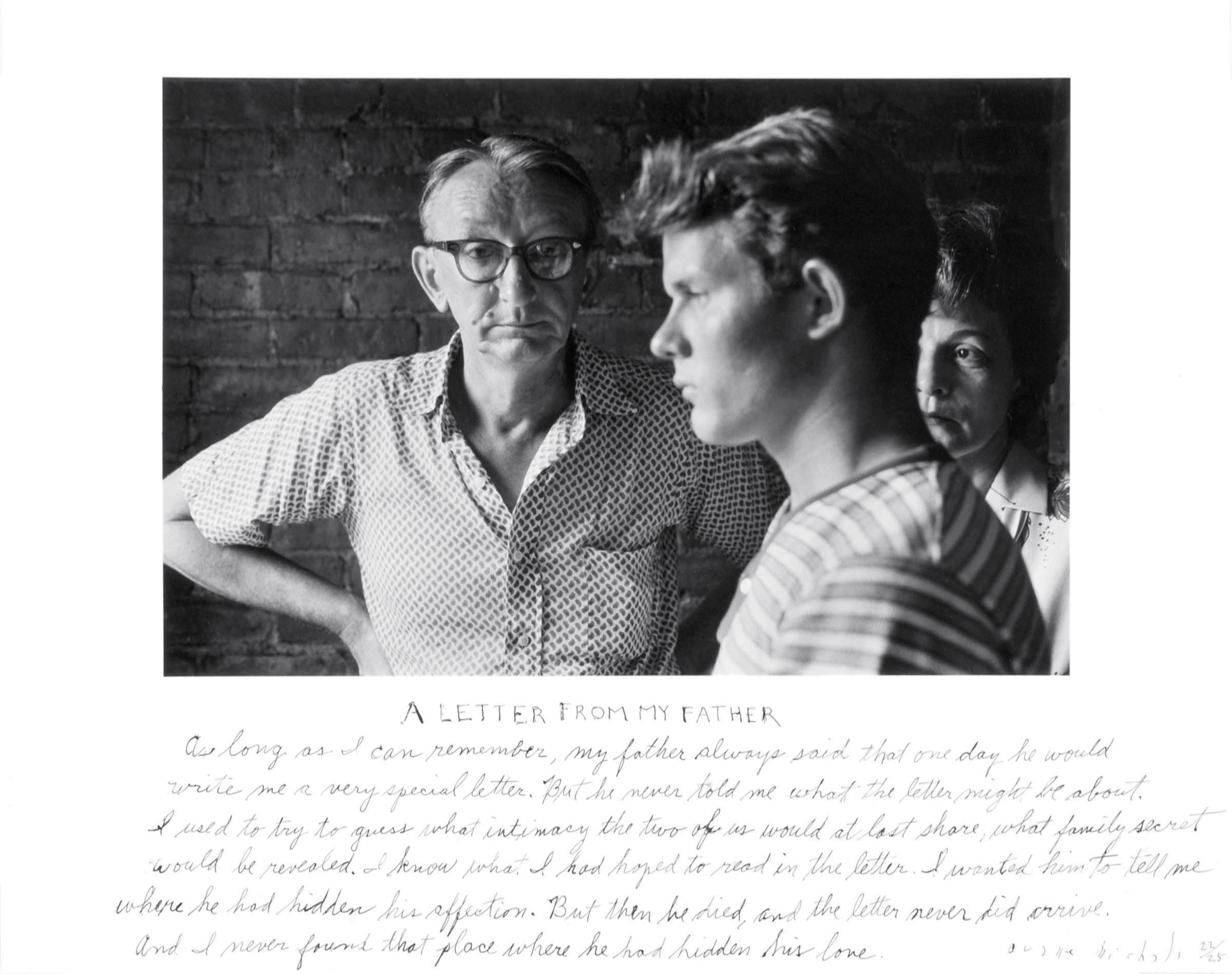 Letter-from-my-Father. All images of Duane Michals' photos are courtesy of the artist and DC Moore Gallery.