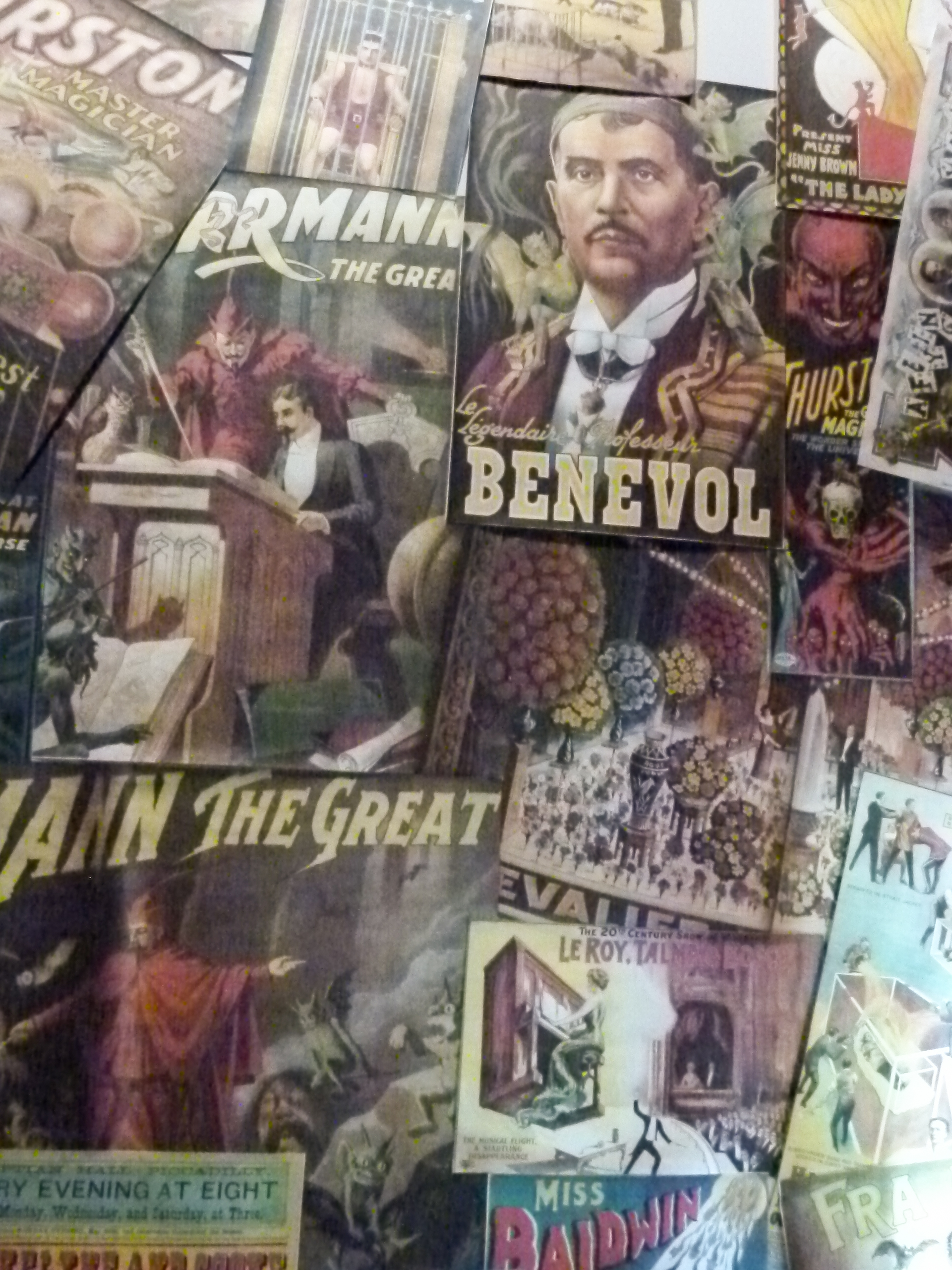 Collage of magician posters.