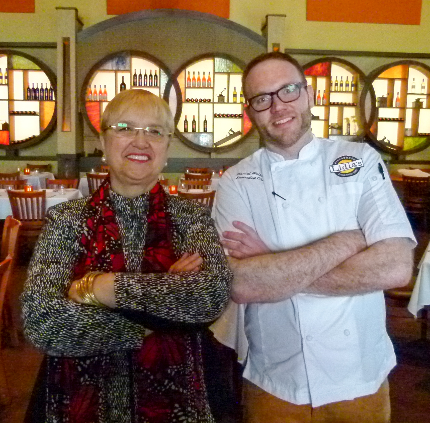 The namesake of Lidia's Pittsburgh, Lidia Bastianich, and new executive chef, Daniel Walker.