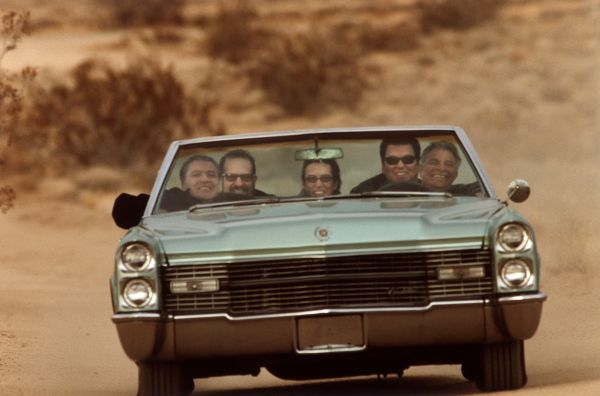 Los Lobos has fun driving as well as playing. Photo: Los Lobos.