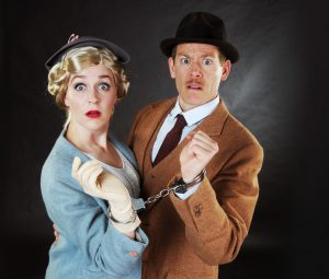 "Megan Pickrell and Allan Snyder are bound for a strange adventure in ""The 39 Steps."""