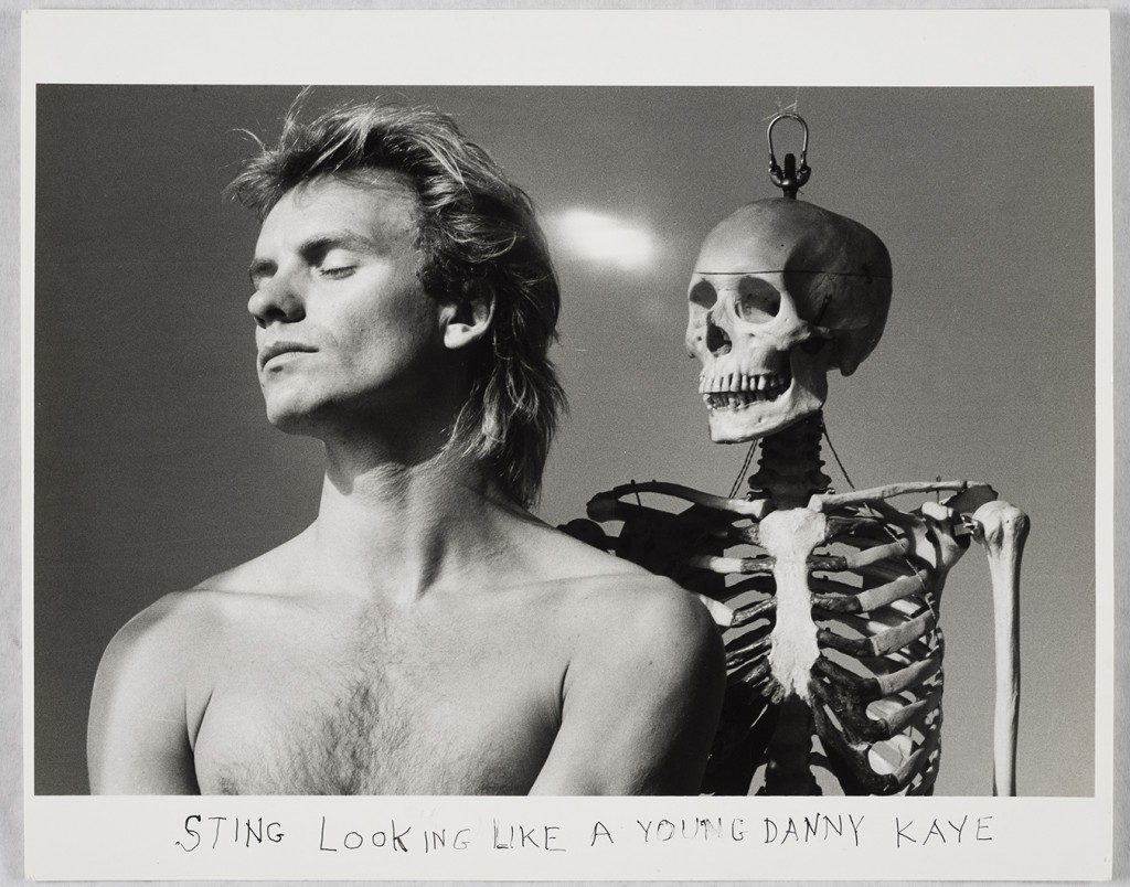 "Michals' ""Sting Looking Like a Young Danny Kaye,"" 1980 ..."