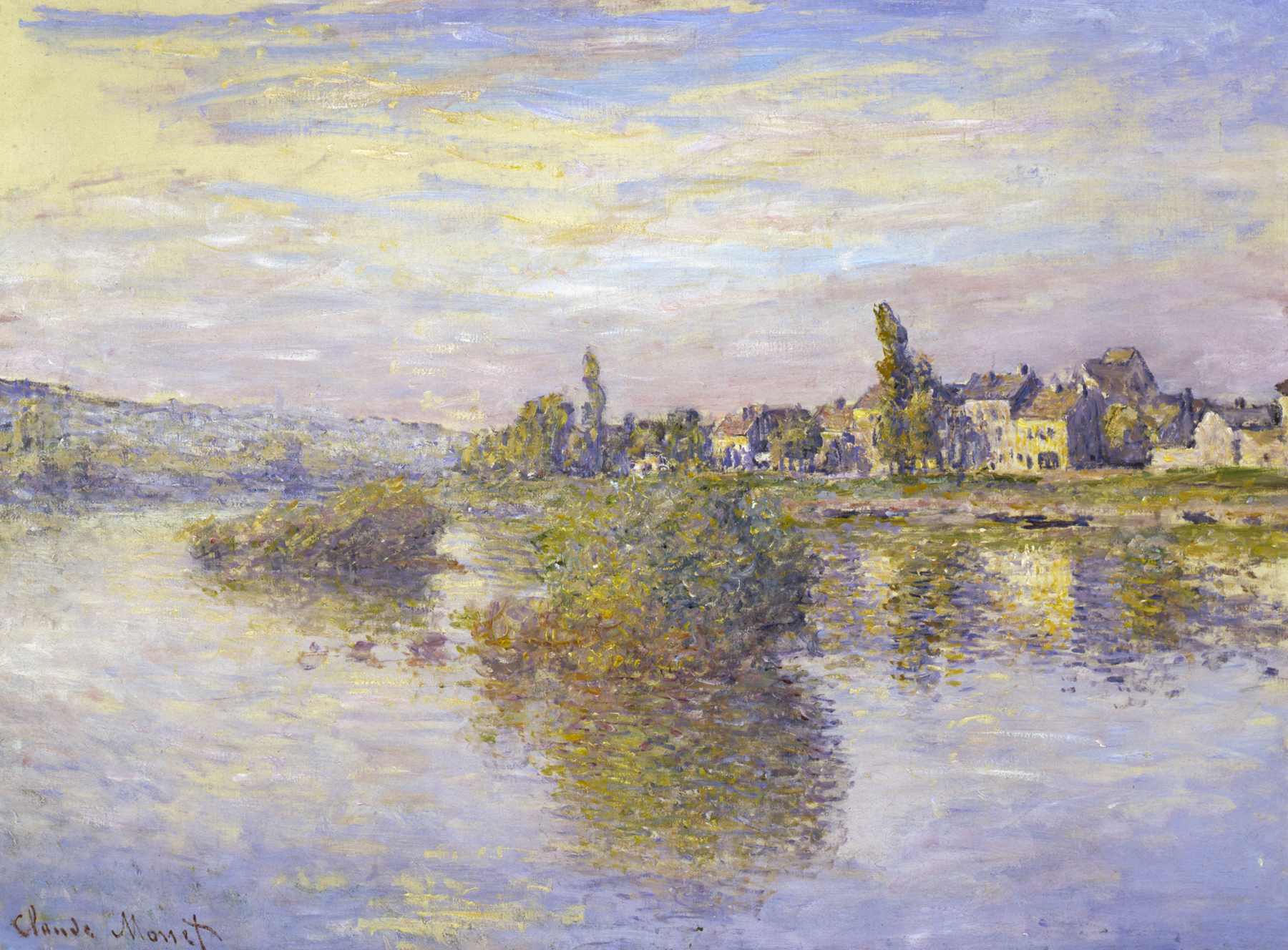 "To catch the shimmer truly, Monet's ""Banks of the Seine at Lavacourt"" (1879) should be seen in the original."