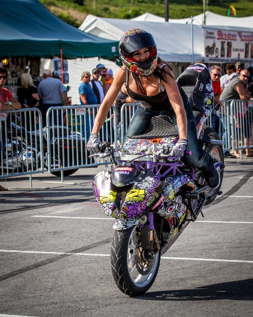 Many very talented motorcycle performers will be demonstrating their skills at MountainFest. (photo: MountainFest and Greater Morgantown Convention & Visitors Bureau)