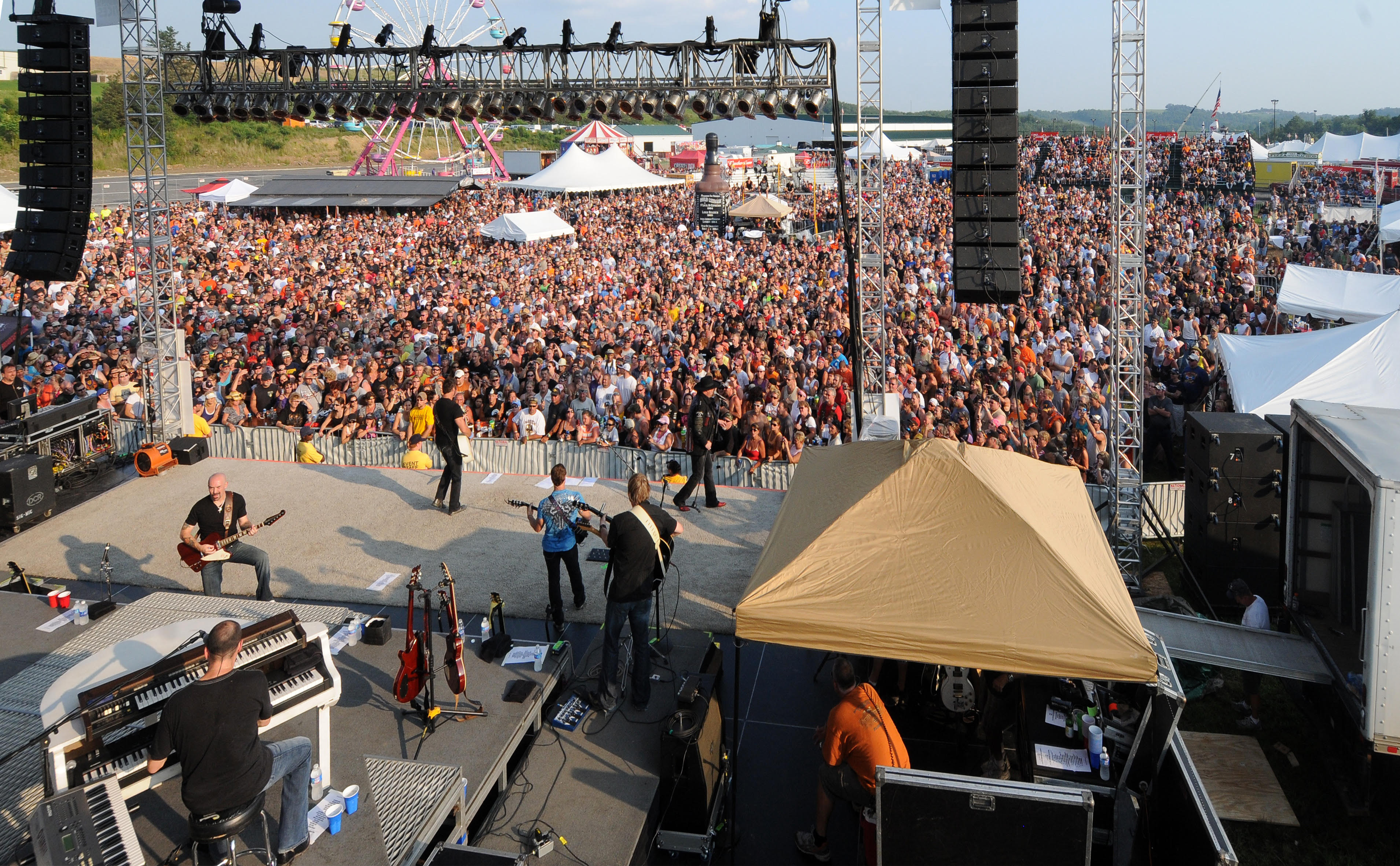 The concerts are a big part of MountainFest Motorcycle Rally. Montgomery Gentry is shown here performing at a previous MountainFest. (photo: MountainFest and Greater Morgantown Convention & Visitors Bureau)