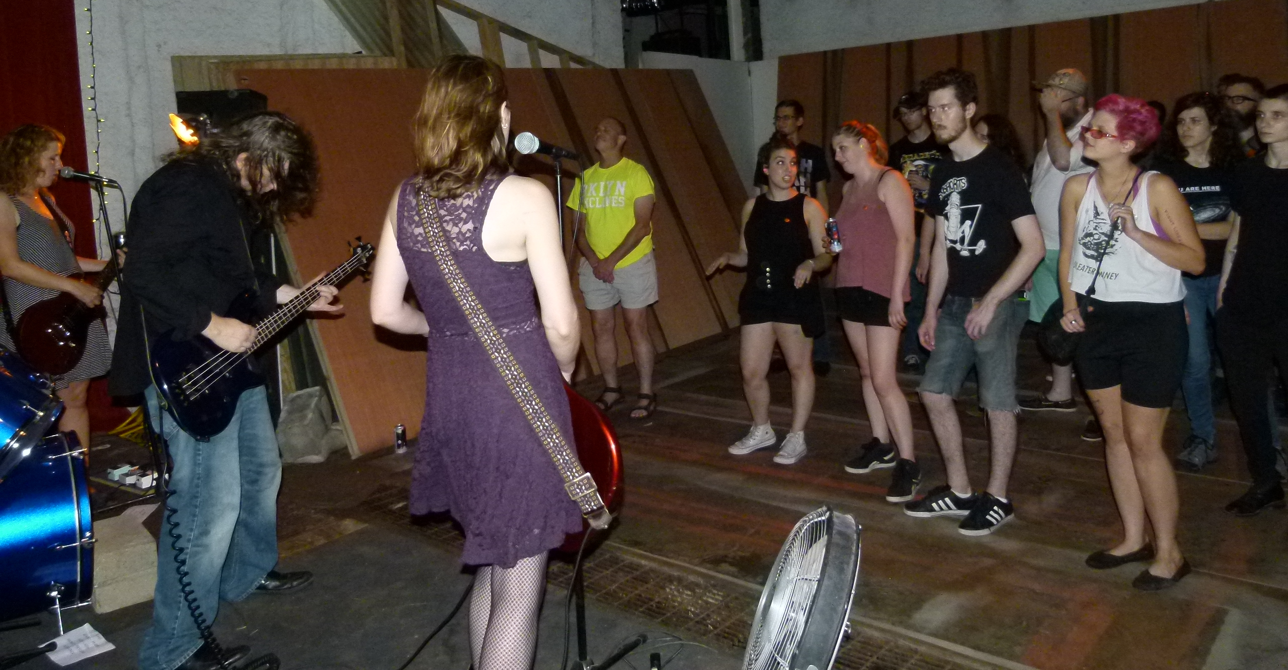 The crowd gets into Murder for Girl's power punk rock.
