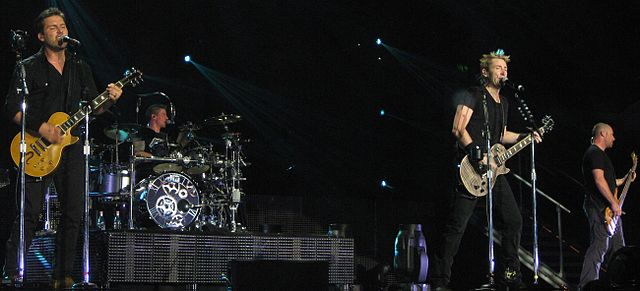 Nickelback performing in Brisbane, Australia in 2012. photo: Thakingdome and Wikipedia.