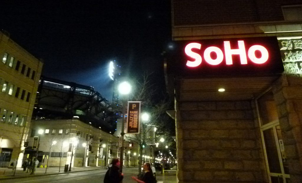SoHo is just across the street from PNC Park.