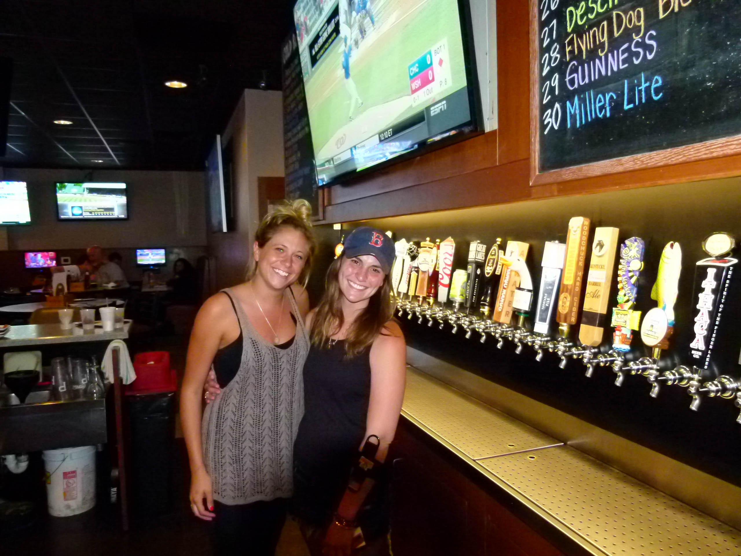 A wide selection of beers on tap and friendly servers and bartenders are two of the highlights at Carnivore's. The friendly faces pictured here are Rachel Zentgraf (l.) and Jen Kumar (r.).