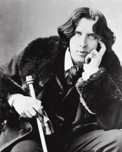"Wilde: ""Life is far too important a thing ever to talk seriously about it."""
