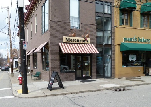 Mercurio's and Prantl's, new and old Shadyside side by side.