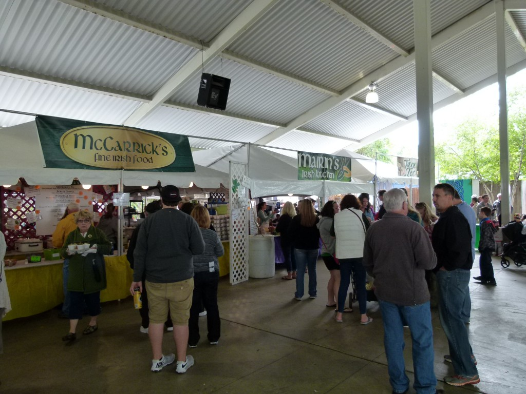 The Irish food pavilion offered many different options.