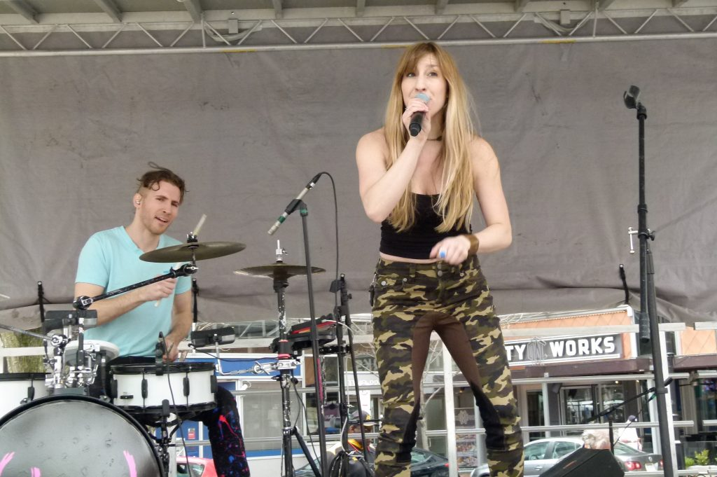 Rachel B performing at Paint the Square Green 2018. (photo: Rick Handler)